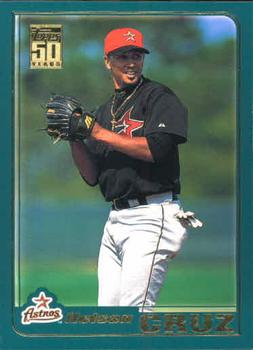 2001 Topps Traded & Rookies #T51 Nelson Cruz (P) Front