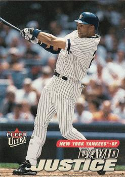 2001 Ultra #47 David Justice Front