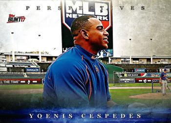 2017 Topps Bunt - Perspectives #P-YC Yoenis Cespedes Front