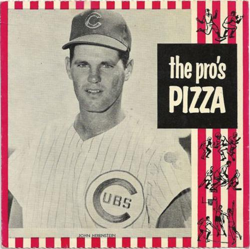 1966 Pro's Pizza Chicago Cubs #NNO John Herrnstein Front