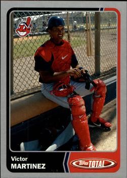 2003 Topps Total - Silver #3 Victor Martinez Front