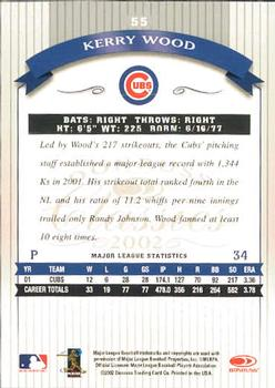 2002 Donruss Classics #55 Kerry Wood Back