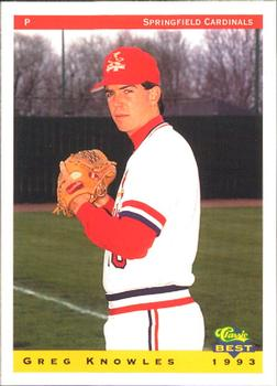 1993 Classic Best Springfield Cardinals #16 Greg Knowles Front