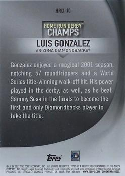 2017 Topps - Home Run Derby Champions #HRD-10 Luis Gonzalez Back
