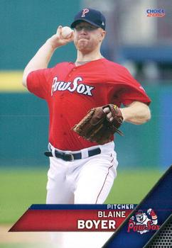2017 Choice Pawtucket Red Sox #3 Blaine Boyer Front