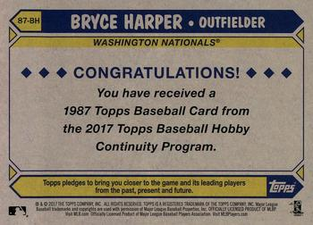 2017 Topps - Silver Pack Series Two #87-BH Bryce Harper Back