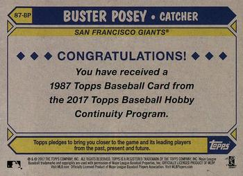 2017 Topps - Silver Pack Series Two #87-BP Buster Posey Back