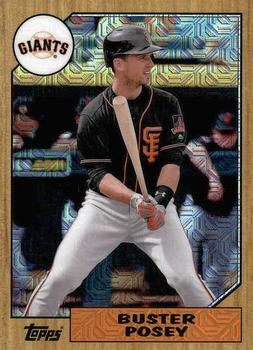 2017 Topps - Silver Pack Series Two #87-BP Buster Posey Front