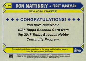 Don Mattingly Gallery 2017 The Trading Card Database