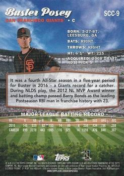 2017 Stadium Club - Chrome #SCC-9 Buster Posey Back