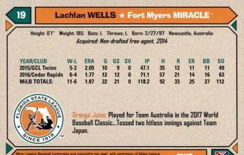 2017 Grandstand Florida State League Top Prospects #NNO14 Lachlan Wells Back