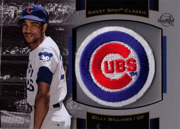 2003 Upper Deck Sweet Spot Classic - Patch Cards #P-BW1 Billy Williams Front