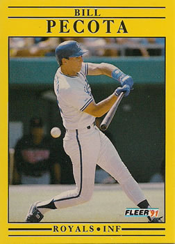 1991 Fleer #565 Bill Pecota Front