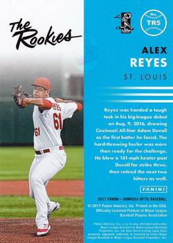 2017 Donruss Optic - The Rookies #TR5 Alex Reyes Back