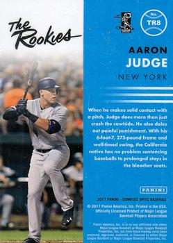 2017 Donruss Optic - The Rookies #TR8 Aaron Judge Back