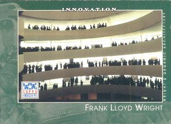 2002 Topps American Pie Spirit of America #105 Frank Lloyd Wright Front