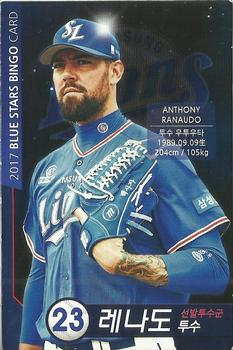 2017 Samsung Lions Blue Stars Bingo Player Cards #23 Anthony Ranaudo Front
