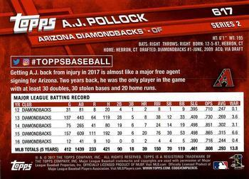 2017 Topps - All-Star Game 2017 #617 A.J. Pollock Back