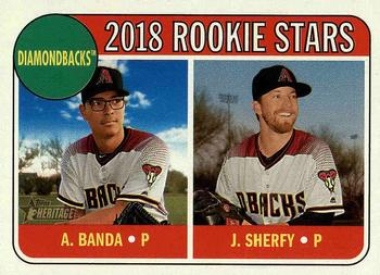2018 Topps Heritage #79 Anthony Banda / Jimmie Sherfy Front