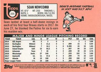 2018 Topps Heritage #225 Sean Newcomb Back