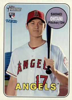 2018 Topps Heritage #600 Shohei Ohtani Front