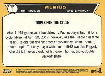 2017 Topps Heritage - Now and Then #NT-1 Wil Myers Back