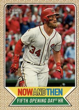 2017 Topps Heritage - Now and Then #NT-2 Bryce Harper Front