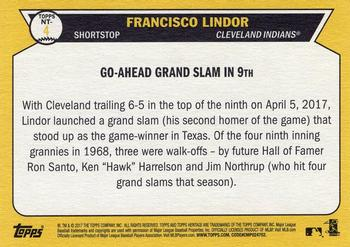2017 Topps Heritage - Now and Then #NT-4 Francisco Lindor Back