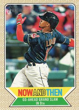 2017 Topps Heritage - Now and Then #NT-4 Francisco Lindor Front