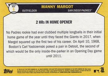 2017 Topps Heritage - Now and Then #NT-6 Manny Margot Back