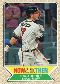 2017 Topps Heritage - Now and Then #NT-8 Dansby Swanson Front