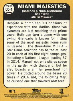 2017 Topps Heritage - Combo Cards #CC-4 Giancarlo Stanton / Marcell Ozuna Back