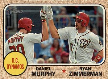 2017 Topps Heritage - Combo Cards #CC-5 Ryan Zimmerman / Daniel Murphy Front
