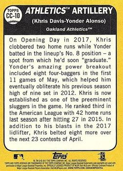 2017 Topps Heritage - Combo Cards #CC-10 Yonder Alonso / Khris Davis Back