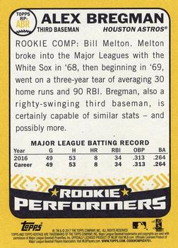 2017 Topps Heritage - Rookie Performers #RP-ABR Alex Bregman Back