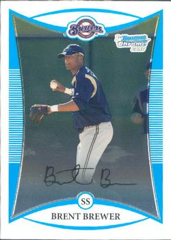 2008 Bowman Chrome - Prospects #BCP187 Brent Brewer Front