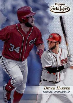 2017 Topps Gold Label - Class 3 #1 Bryce Harper Front