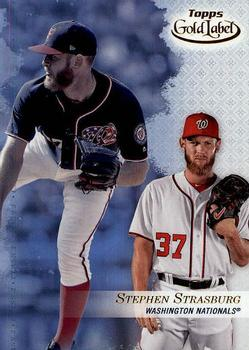 2017 Topps Gold Label - Class 3 #9 Stephen Strasburg Front