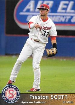2016 Grandstand Spokane Indians #37 Preston Scott Front