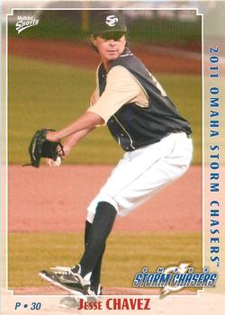 2011 Multi-Ad Omaha Storm Chasers #3 Jesse Chavez Front