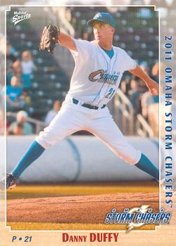 2011 Multi-Ad Omaha Storm Chasers #4 Danny Duffy Front