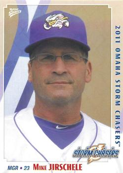 2011 Multi-Ad Omaha Storm Chasers #23 Mike Jirschele Front