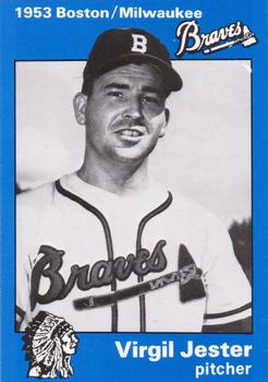 1983 Fritsch 1953 Boston/Milwaukee Braves #22 Virgil Jester Front