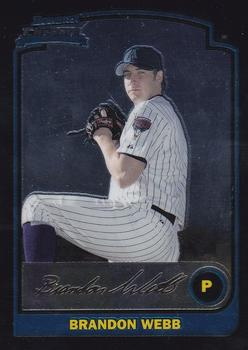 2003 Bowman Chrome #179 Brandon Webb Front