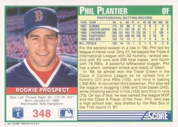 e1c683b4aa Collection Gallery - Euklid - Phil Plantier | The Trading Card Database