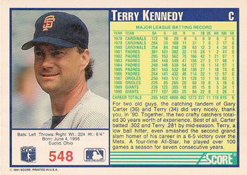 Collection Gallery Bkklaos Terry Kennedy The Trading Card Database