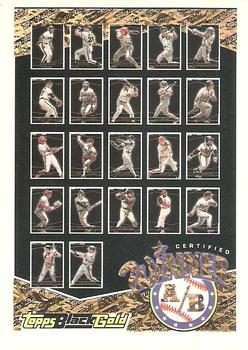 1993 Topps - Black Gold Winners Redeemed/Exchange #A/B Winner A/B 1-22 Front