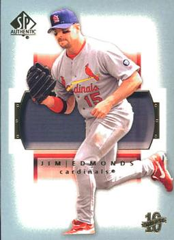 2003 SP Authentic #53 Jim Edmonds Front