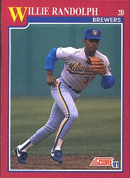1991 Score Rookie & Traded #35T Willie Randolph Front