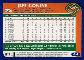 2003 Topps #44 Jeff Conine Back
